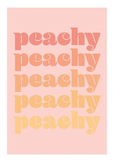"""Bright typography print in a pretty pink and yellow color scale - inspired by the word """"peachy."""" Peachy goes in a retro font, and a built-in passe-partout frames the motif elegantly. A trendy poster for a modern home! Bedroom Wall Collage, Photo Wall Collage, Picture Wall, Wall Art, Text Poster, Poster Wall, Basketball Poster, Dorm Posters, Peach Walls"""