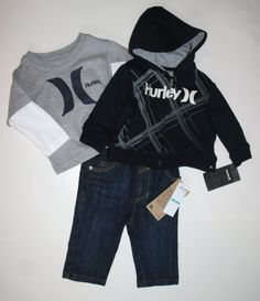 Hurley Baby Clothes - Buy Hurley Baby Clothing Online My husband would love this. Newborn Boy Clothes, Newborn Outfits, Baby Boy Newborn, Cute Baby Clothes, Toddler Outfits, Baby Boy Outfits, Baby Kids, Kids Outfits, Carters Baby