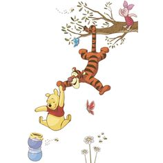 Winnie the Pooh Swinging for Honey Peel and Stick Giant Wall Decals | Overstock™ Shopping - Big Discounts on Roommates Wall Decor