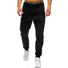 Comaba Mens Slim-Tapered Solid-Colored Regular Fit Skinny Casual Pants