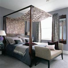 Silk damask | Modern bedrooms | PHOTO GALLERY | Homes & Gardens | Housetohome.co.uk