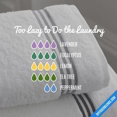 Too Lazy to Do the Laundry - Essential Oil Diffuser Blend