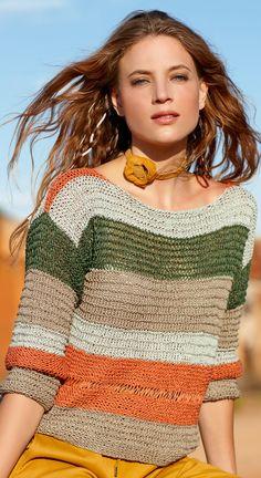 Crochet Cardigan Pattern, Crochet Blouse, Knit Crochet, Knitting Yarn Diy, Chunky Knitting Patterns, Mode Crochet, Mode Chic, Knit Fashion, Beautiful Crochet