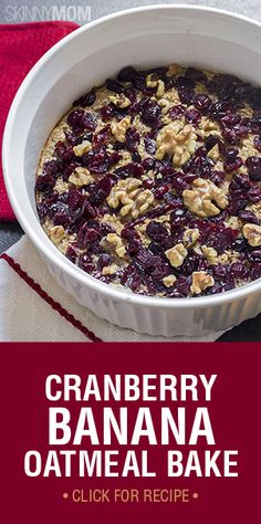 This Cranberry Banana Oatmeal Bake will leave your kitchen smelling like Christmas morning.