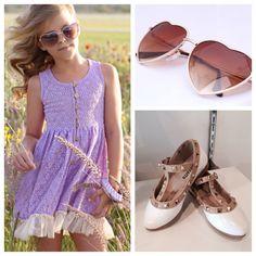 Trendy kid's clothes at www.modernechild.com . #kids #fashion #trendy #clothes #stylish #children #hearts #lavender