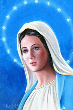 Bella imagen de la Virgen María