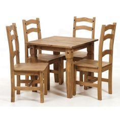 Premium Corona Square Dining Set | Dining Table & 4 Chairs | Solid Mexican Pine Brand New For 2015 Call Now To Order 01527523070