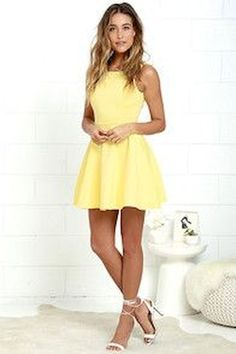 2018 New Style Yellow A-Line Homecoming Dresses,Spaghetti Straps Mini Graduation Party Dresses from SofieDress 2018 New Style Yellow A-Line Homecoming Dresses, Spaghetti Straps Mini Graduation Gowns Yellow Homecoming Dresses, Hoco Dresses, Pretty Dresses, Graduation Dresses, Skater Dress Homecoming, Evening Dresses, Short Dresses For Prom, Dress Prom, Ball Dresses