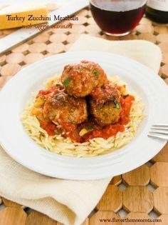 Turkey Zucchini Meatballs with Veggie Marinara {Slow Cooker} | Flavor the Moments
