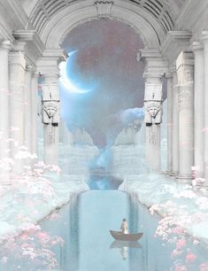 Light Blue Aesthetic, Angel Aesthetic, Aesthetic Art, Angel Wallpaper, Wallpaper Backgrounds, Wallpapers, Temple Of Light, Astral Plane, Beauty In Art