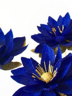 crepe paper flower, flower, blooming waterlily, papetal