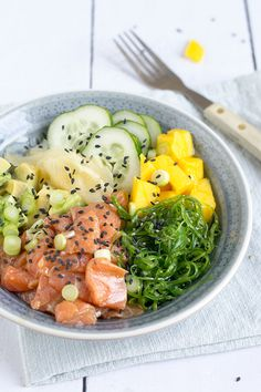 Toasted sugar and maple syrup - Healthy Food Mom Poke Bowl, Poke Sushi Bowl, I Love Food, A Food, Good Food, Veggie Recipes, Asian Recipes, Healthy Recipes, Weigt Watchers