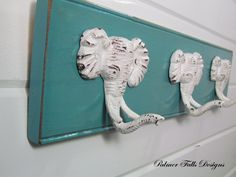 Elephant Coat Rack / Safari Nursery Decor / by PalmerFallsDesigns, $38.00