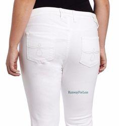 New LUCKY BRAND JEANS Womens Plus 24W 24 W Ginger White Capri Stretch Denim #LuckyBrand #Lucky #Brand #Ginger #White #Capri #Cropped #Denim #Jeans #Womens #Ladies #Plus #Stretch