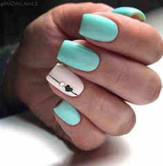 Best Nails Design Ideas in This Week flippedcase Eplore creative and beautiful nail art & nail designs to inspire your next manicure. Try these fashionable nail ideas and share them with us at Chic Nails, Stylish Nails, Fun Nails, Best Acrylic Nails, Summer Acrylic Nails, Best Nails, Acrylic Nail Designs For Summer, White Summer Nails, Mint Green Nails