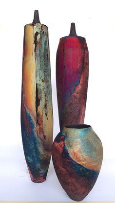 copper matte raku by Tim Betts at the Raku Garden in Povlja