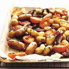 Tomaat & worst van de bakplaat