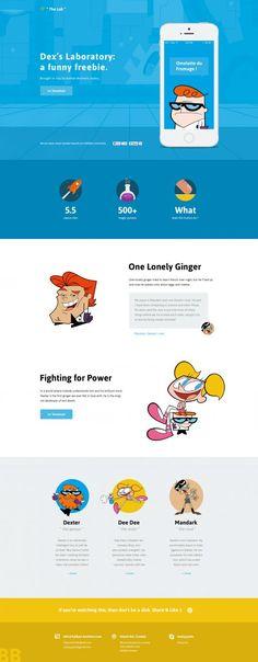 Dexter Lab Website Design Freebie PSD