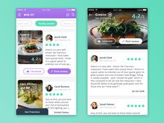 Juicy Healthy Food finder/review app designed for a POC @Sourcebits