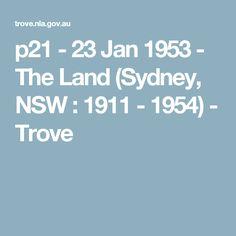 p21 - 23 Jan 1953 - The Land (Sydney, NSW : 1911 - 1954) - Trove