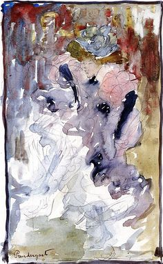 Maurice Prendergast, Can-Can Dancer, c. 1893-94