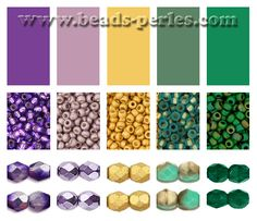 Combinaciones de color: Paleta 4 - Beads Perles Boutique