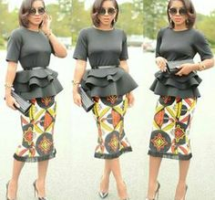 Peplum Blouse and ankara skirt