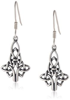 Sterling Silver Celtic Knot Drop Earrings ** You can find more details by visiting the image link.