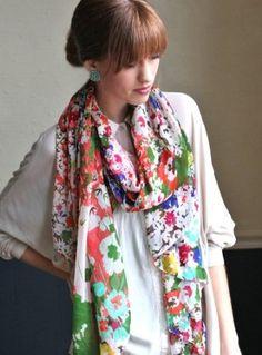 Women's Emma Chiffon Floral Scarf