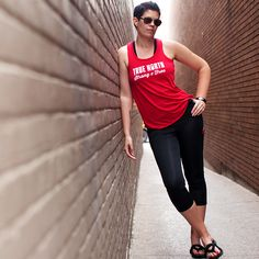 Show off your Canadian pride in this flattering flowy tank. Canada Day Shirts, Real Bodies, Compression Pants, True North, Casual Outfits, Casual Clothes, Active Wear For Women, Tee Shirts, Strong