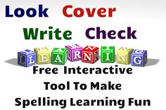 Free interactive tool to give a new spin to spelling practice activities! Create your own spelling list or use one of the existing lists based on phoneme patterns. Have fun spelling!