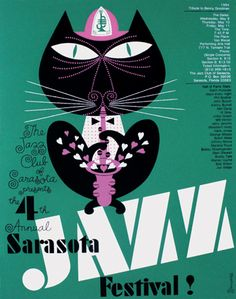 Alex Steinweiss. Poster for Sarasota Jazz Festival, 1984.