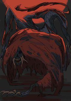 Blood-starved Beast by BlazeMalefica on DeviantArt Arte Dark Souls, Bloodborne Art, Dark Blood, Demon Art, Monster Art, The Witcher, Horror Art, Creature Design, Fantasy Art