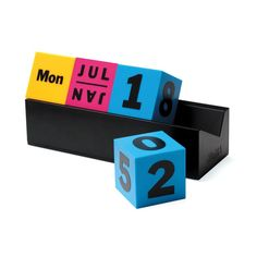 Colorful Cubed Calendar | perpetually awesome
