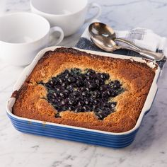 Blueberry Breakfast Spoon Cake, Gluten Free!    I'm going to have to try this.