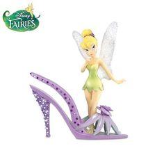 "Disney Tinker Bell ""Garden Of Style"" Shoe Figurines Tinkerbell And Friends, Tinkerbell Disney, Peter Pan And Tinkerbell, Tinkerbell Fairies, Disney Fairies, Disney Figurines, Fairy Figurines, Art Disney, Disney Love"