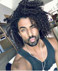 Fine man with gorgeous hair!