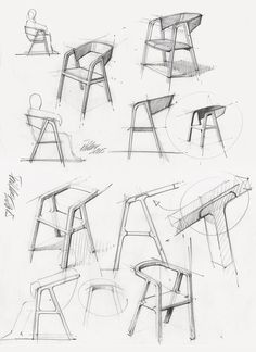 "productsketch: "" Chair development sketch Follow on Instagram: @productsketch """