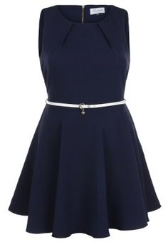 Vestito elegante - navy/cream