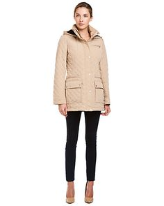 Some of you have to get in on this: Calvin Klein Khaki Hooded Coat