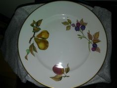 "4 / 8 inch Royal Worcester Evesham Gold Pattern small Plate "" Mint Unused #RoyalWorcester"