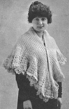 1916 Square Shawl Antique Vintage Crochet Pattern PDF by annalaia, $3.75