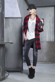 Tartan Coat - it's really warm with its Cocoon effect