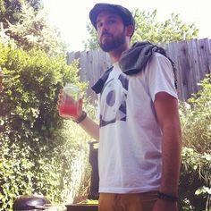 @melogram- #webstagram #insteegram #shirt @derekgtaylor serious about watermelon juice!
