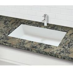 DECOLAV Solid Surface Rectangular Undermount Lavatory Sink with Overflow Rectangular, Undermount Bathroom Sinks, Bathroom Sink Vanity, Solid Surface, Walk In Shower Designs, Small Bathroom, Bathroom, Sink, Undermount Bathroom Sink