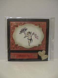 This card from Stampendous Clear Stamps - Charm Collection, a truly Vintage in feel to any project.
