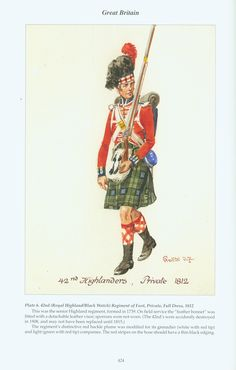Great Britain: Plate 6. 42nd (Royal Highland/Black Watch) Regiment of Foot, Private, Full Dress, 1812