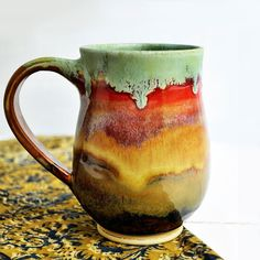 ceramic mug Beer Stein  coffee cup tea mug  for him by OneClayBead, $33.00