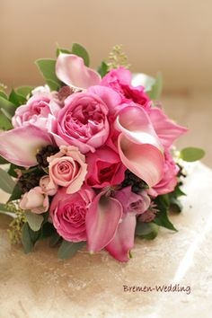 Lovely pinks for this bridal bouquet...