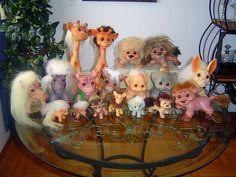 Dam Brand Troll Dolls & Animals -we had elephant trolls Retro Toys, Vintage Toys, 90s Toys, Cute Fantasy Creatures, Toys Land, Troll Dolls, Dolls For Sale, Santa Gifts, Childhood Toys